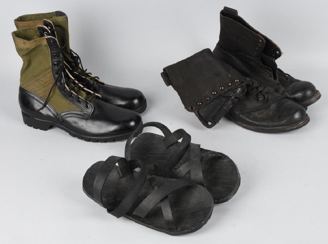 VIETNAM WAR US & USMC BOOTS & HO CHI MINH SANDALS