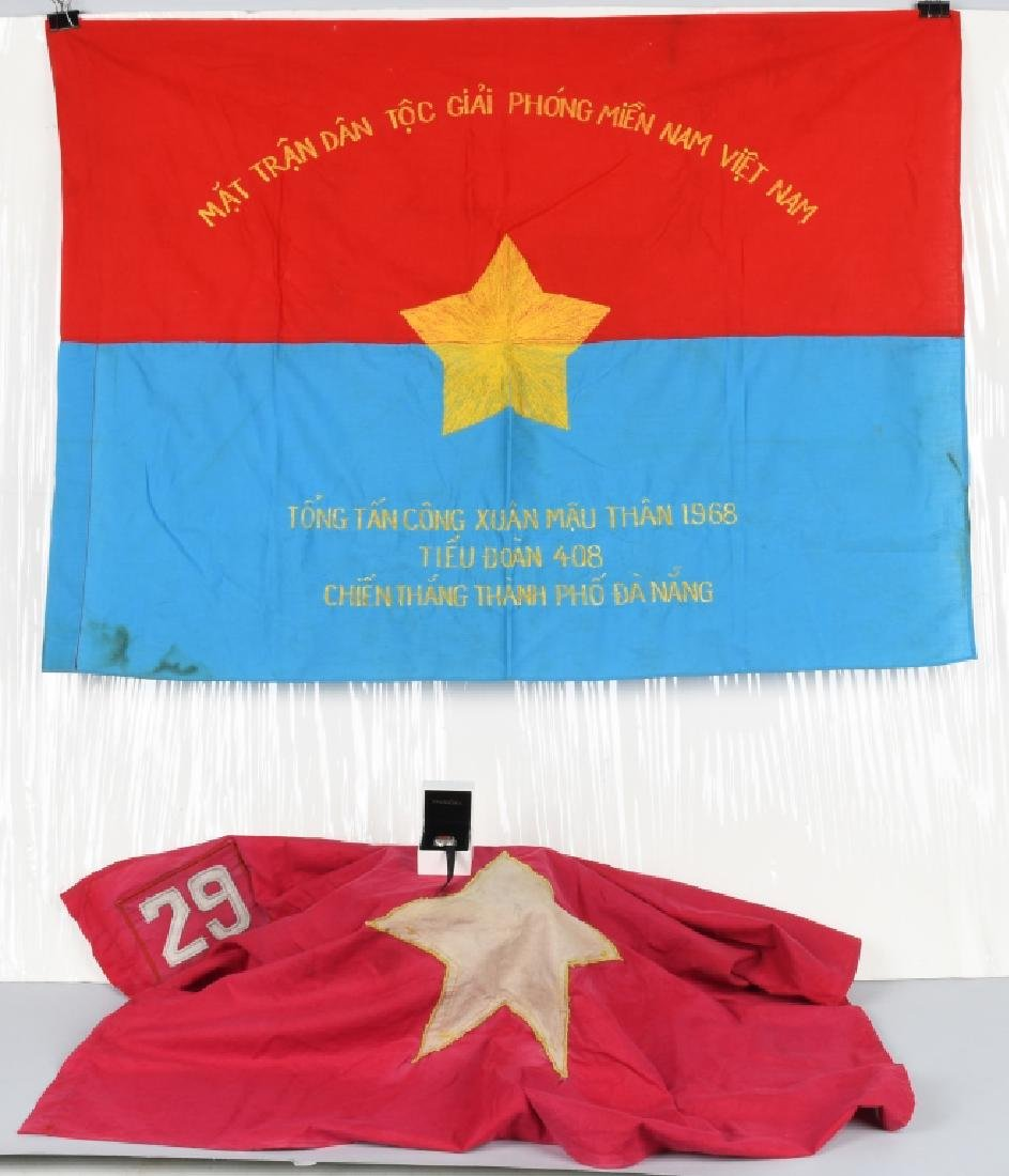VIETNAM WAR NVA FLAGS AND USMC RING