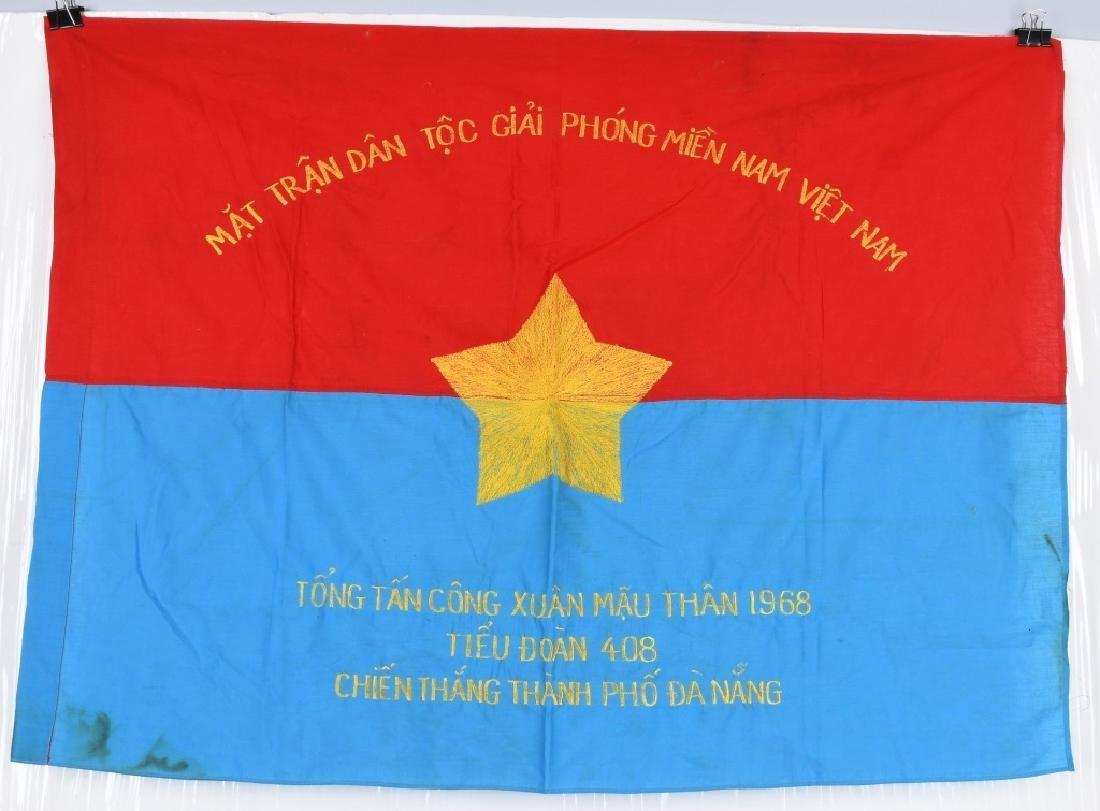 VIETNAM WAR NVA FLAGS AND USMC RING - 2