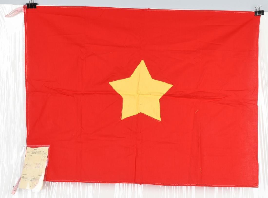 VIETNAM WAR NVA FLAG SENT TO U.S. CONGRESSMAN 1967