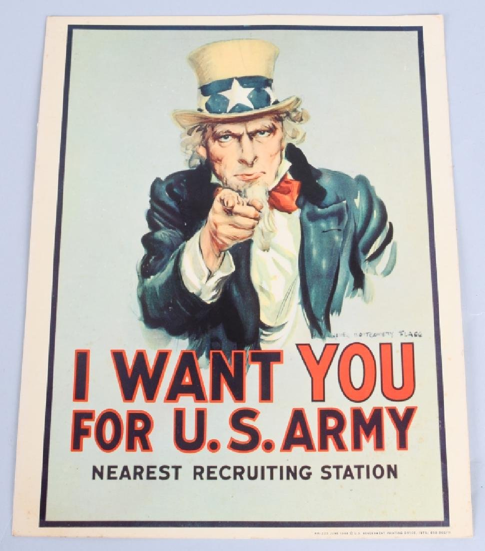 VIETNAM US UNCLE SAM I WANT YOU RECRUITING POSTERS - 2