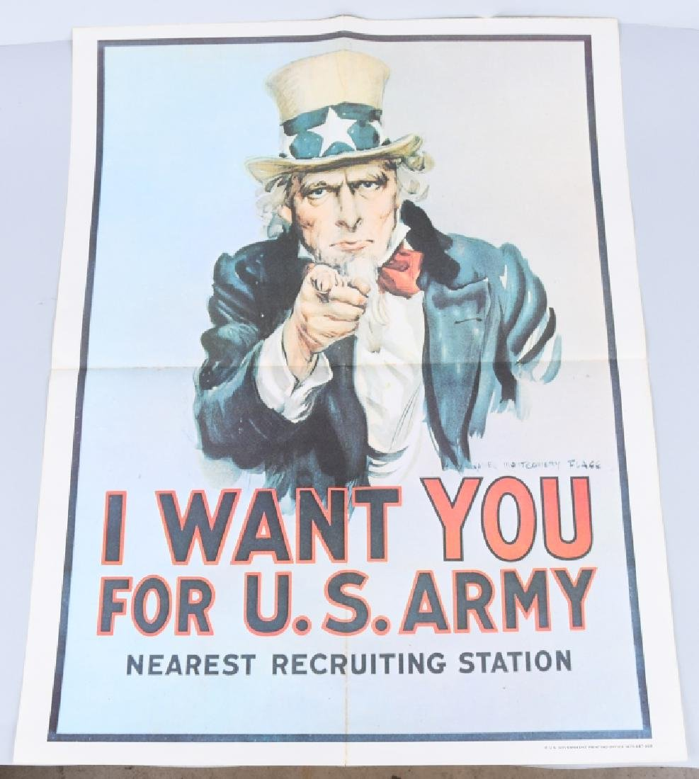VIETNAM US UNCLE SAM I WANT YOU RECRUITING POSTERS - 4