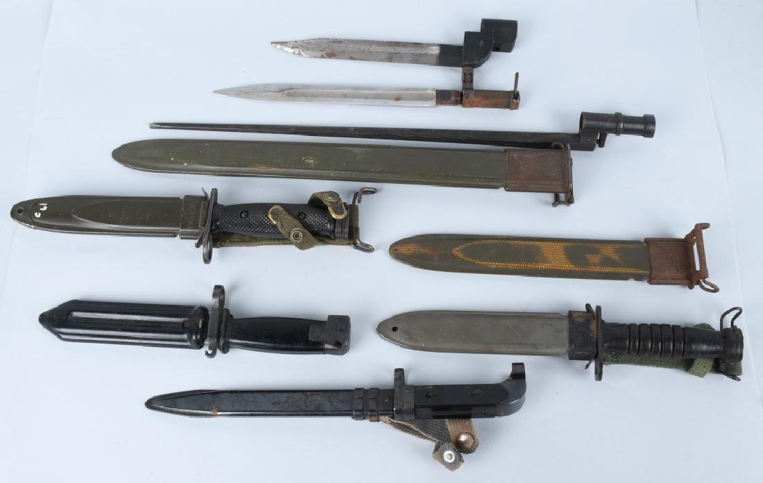 POST WWII BAYONET & SCABBARD LOT