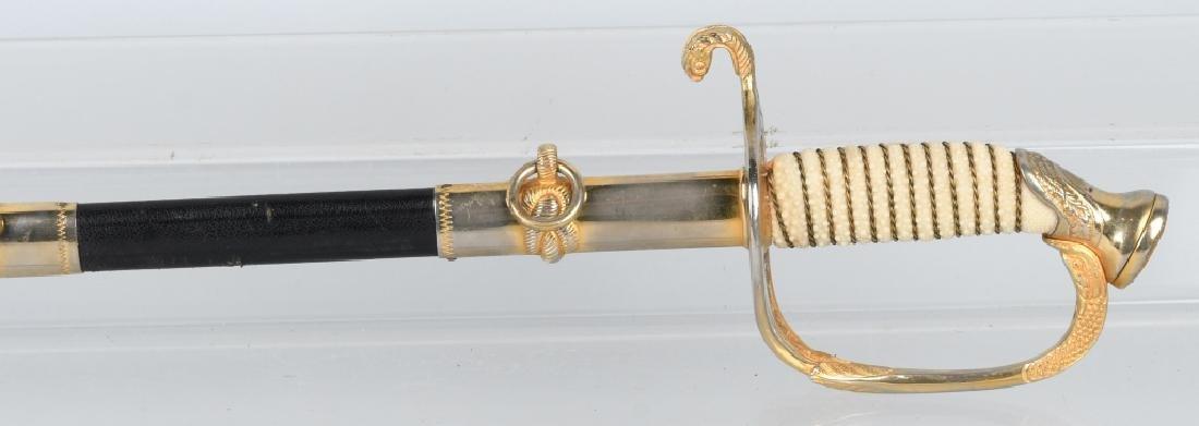 U.S. NAVY M 1852 NAVAL OFFICER'S SWORD C1960 - 11