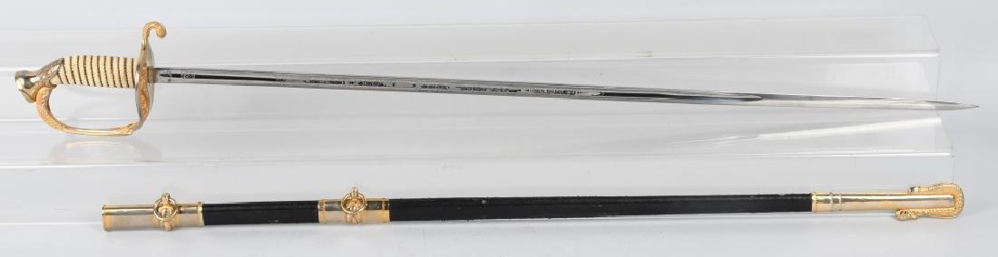 U.S. NAVY M 1852 NAVAL OFFICER'S SWORD C1960
