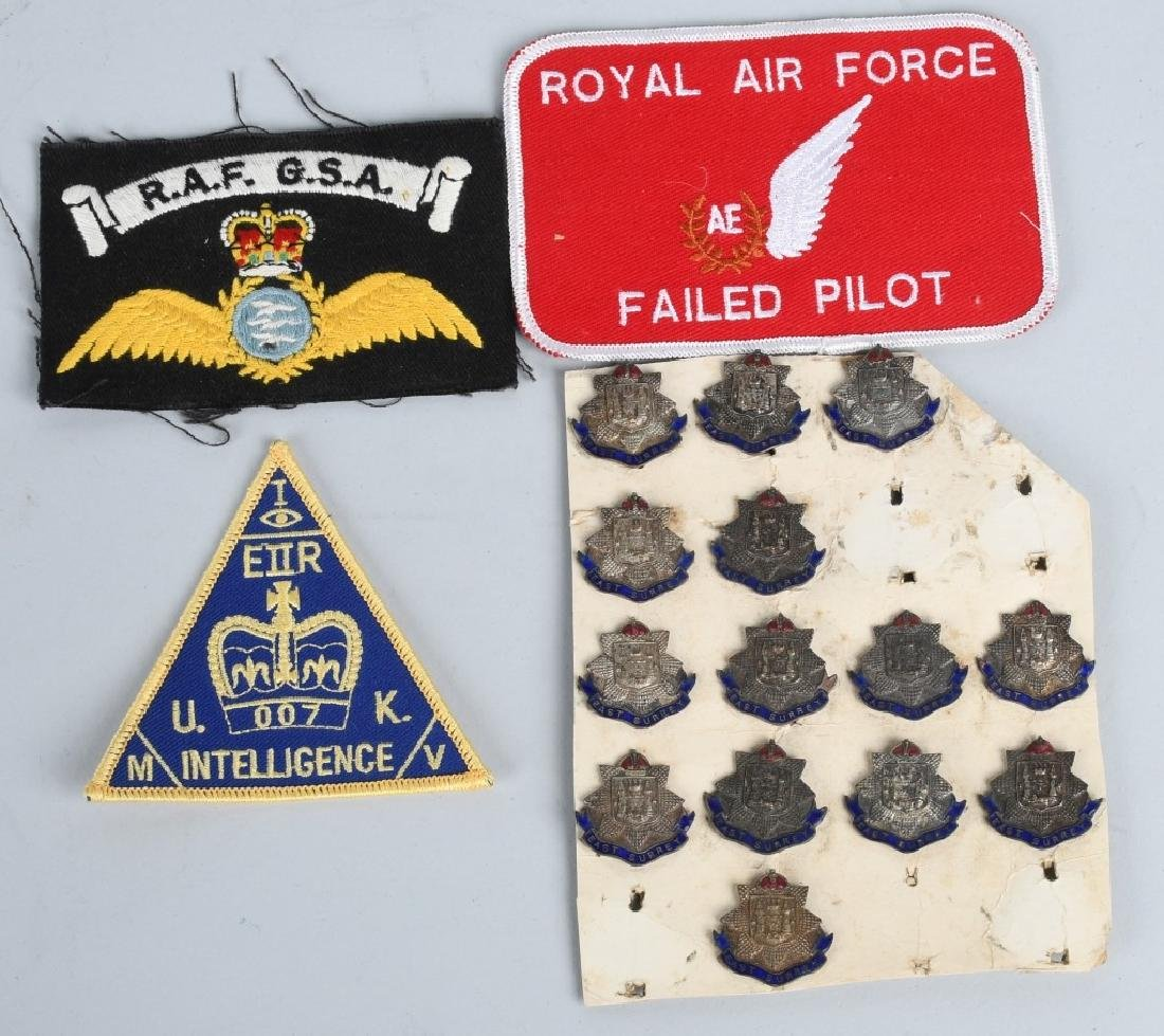 BRITISH MEDAL INSIGNIA & PATCH LOT WW1 - PRESENT - 2
