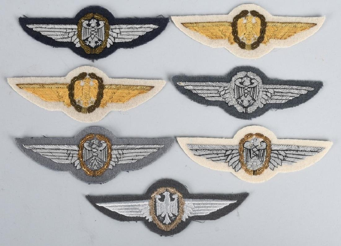 GERMAN AIR FORCE WINGS AND INSIGNIA LOT - 5