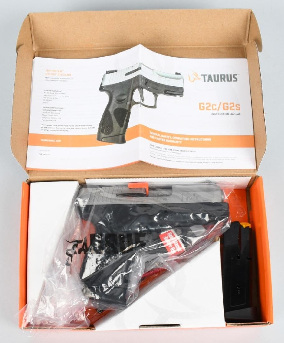 TAURUS MODEL G2C, 9mm PISTOL, BRAND NEW, BOXED