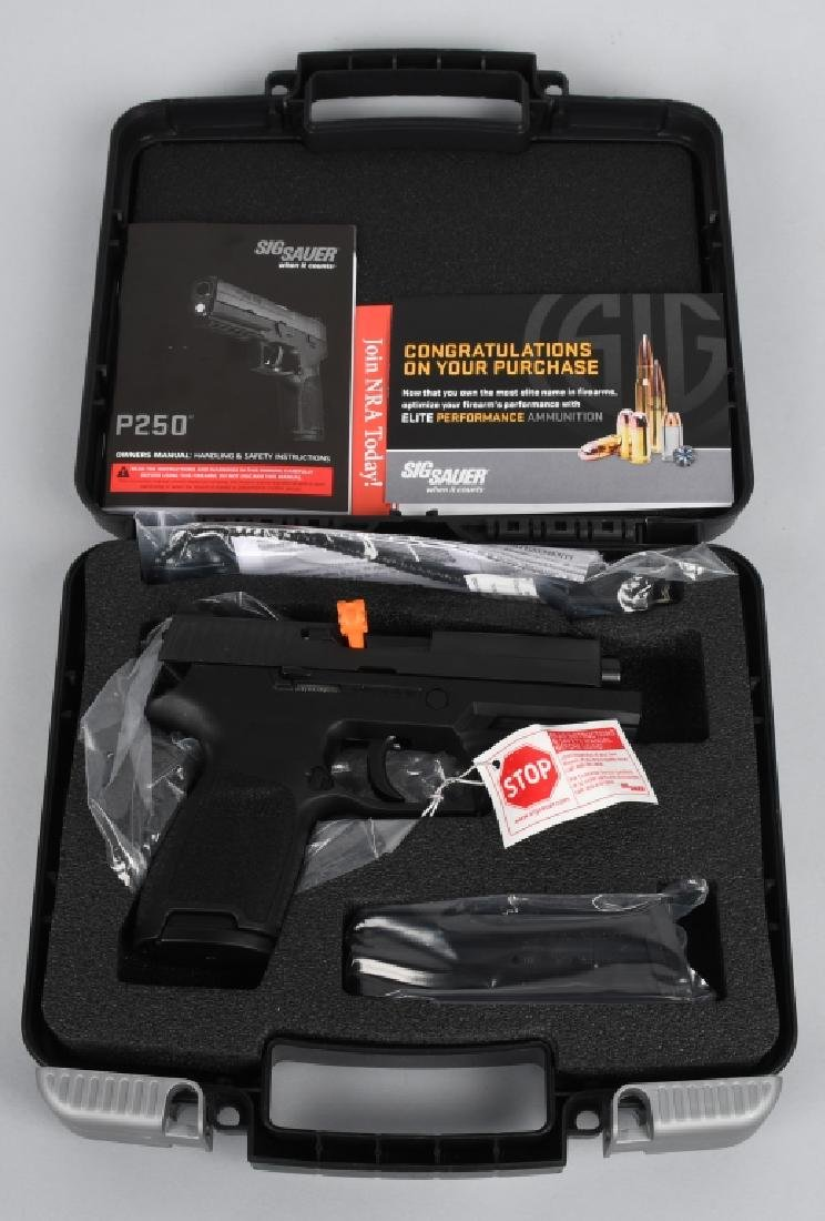 SIG SAUER P250, .45 PISTOL, BRAND NEW, BOXED