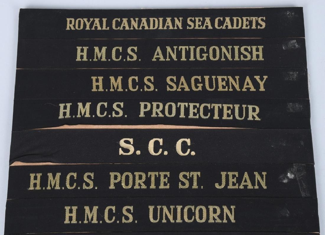 CANADIAN NAVY CAP TALLY LOT - 32 CANADA - 2