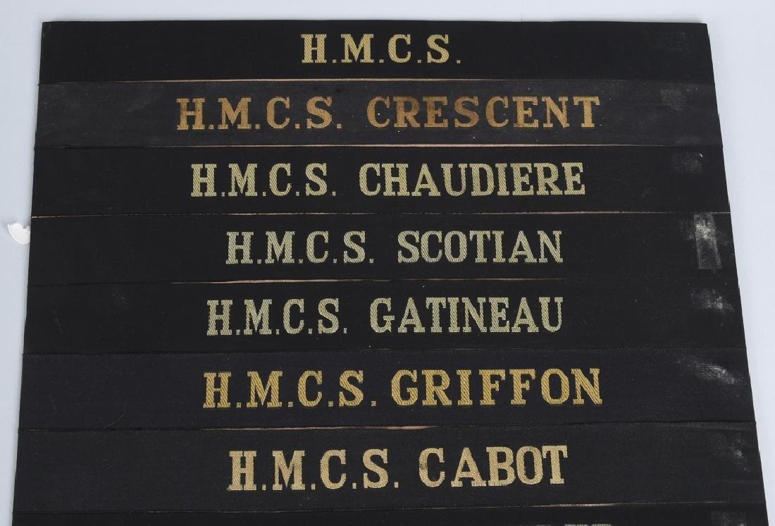 CANADIAN NAVY CAP TALLY LOT - 32 CANADA - 5