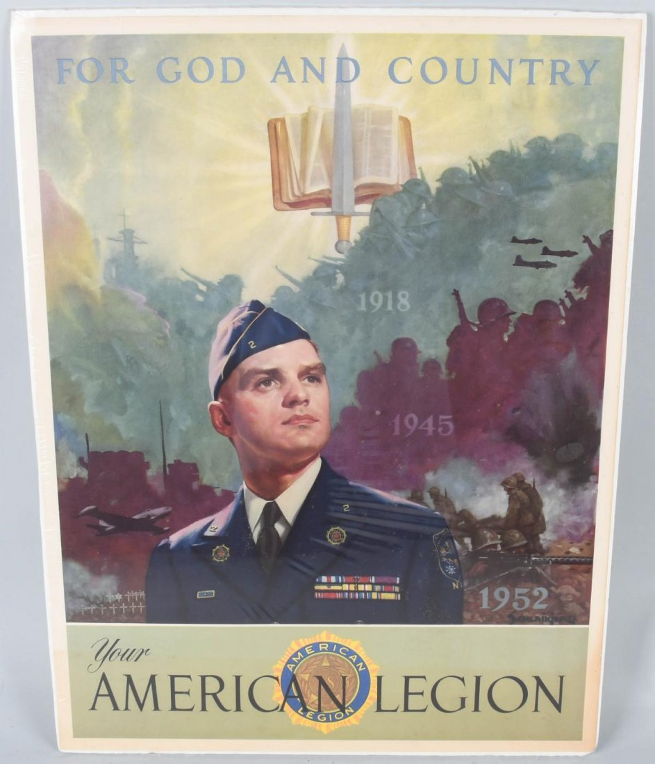 1952 AMERICAN LEGION, GOD and COUNTRY POSTER