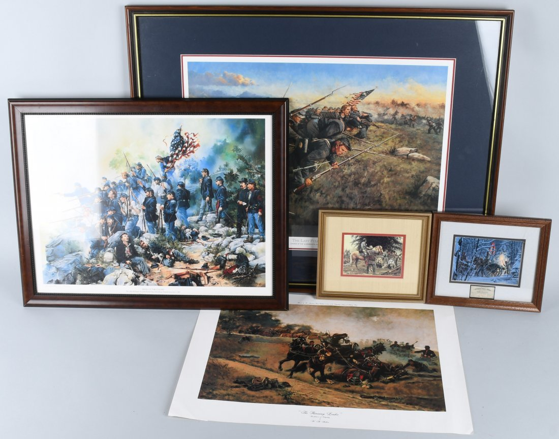 CIVIL WAR FRAMED PRINTS INC KEITH ROCCO GETTYSBURG