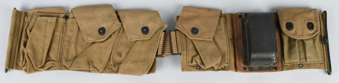 WWI US BAR AMMO BELT W/ METAL BUTT PLATE HOLDER