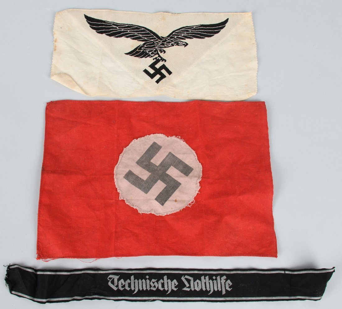 WWII NAZI GERMAN TENO CUFF TITLE PARTY FLAG
