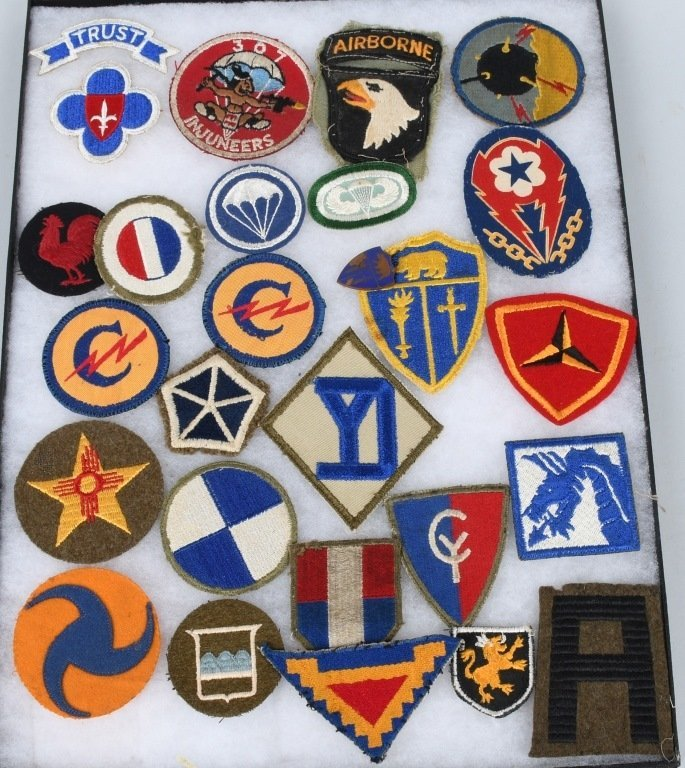 WWII US PATCH LOT AIRBORNE CAVALRY MP THEATER MADE