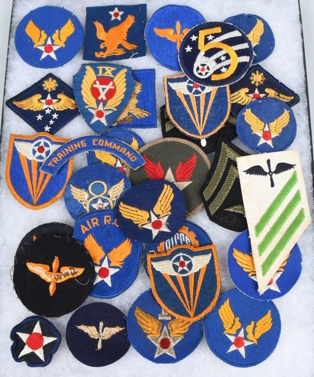 WWII U.S ARMY AIR FORCE AAF PATCH LOT THEATER MADE