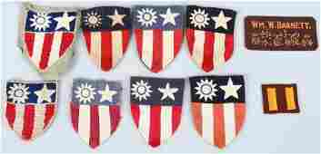 WWII US CBI PATCH LOT  THEATER MADE