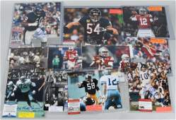 9 FOOTBALL SIGNED 8X10 ACTION PHOTOS  MORE