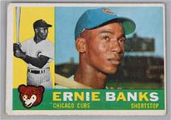 1960 TOPPS #10 ERNIE BANKS BASEBALL CARD