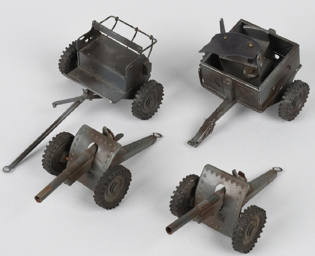 GERMAN HAUSER TIN CANNONS, CAISSON and MORE