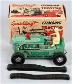 MARX TIN windup SPARKLING CLIMBING TRACTOR, BOXED