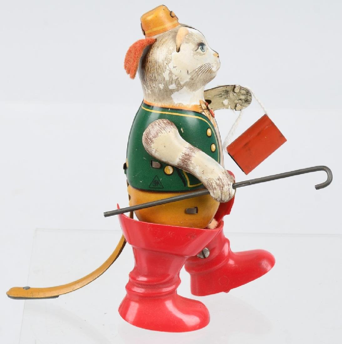 GERMAN PUSS -N-BOOTS TIN windup TOY - 3