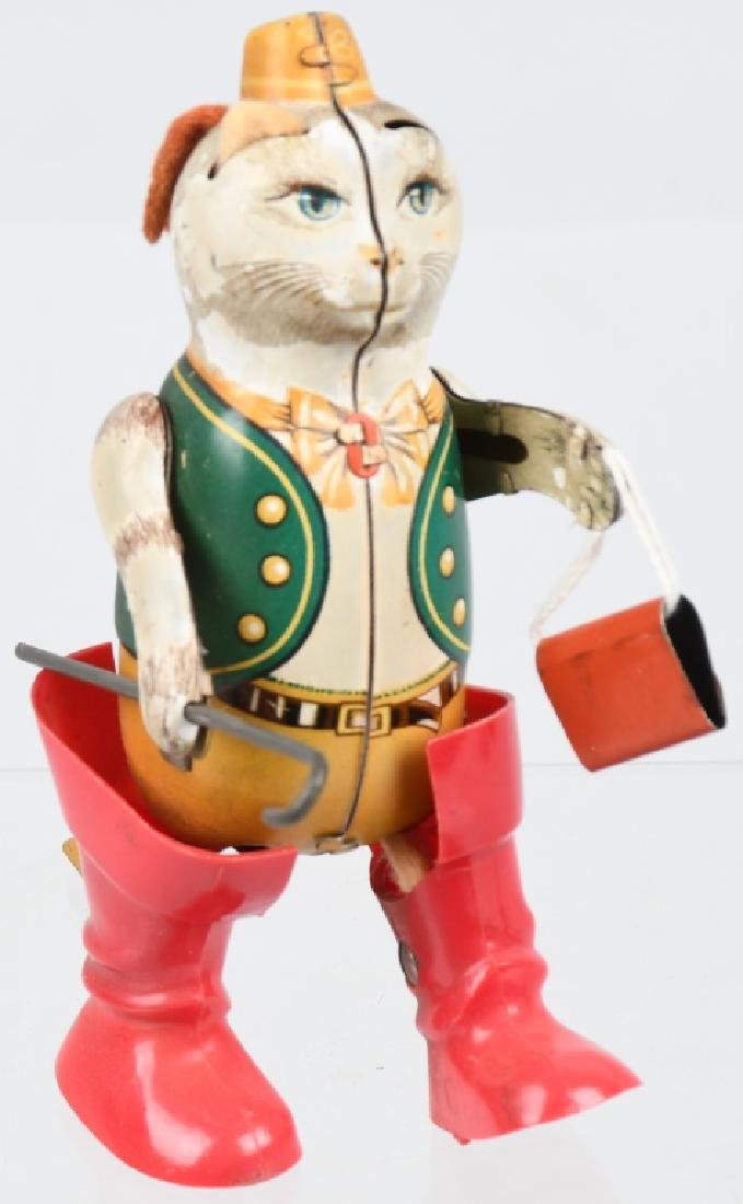 GERMAN PUSS -N-BOOTS TIN windup TOY - 4