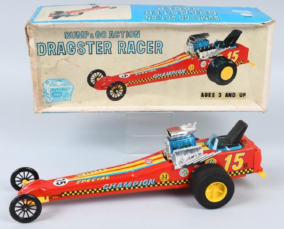 JAPAN TIN Battery Op DRAGSTER RACER, BOXED