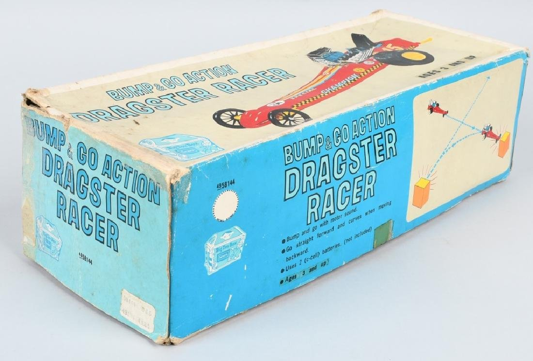 JAPAN TIN Battery Op DRAGSTER RACER, BOXED - 5