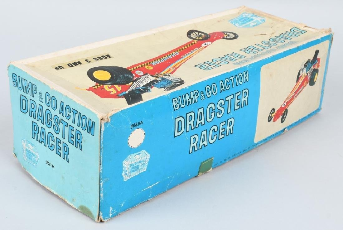JAPAN TIN Battery Op DRAGSTER RACER, BOXED - 6