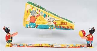 JAPAN TPS TIN windup BEARS PLAYING BALL, BOXED