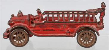 A.C. WILLIAMS 1920's cast iron FIRE LADDER TRUCK