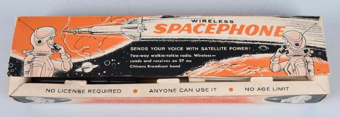 SPACE GUN TIN Battery Op & BOXED SPACE PHONE - 5