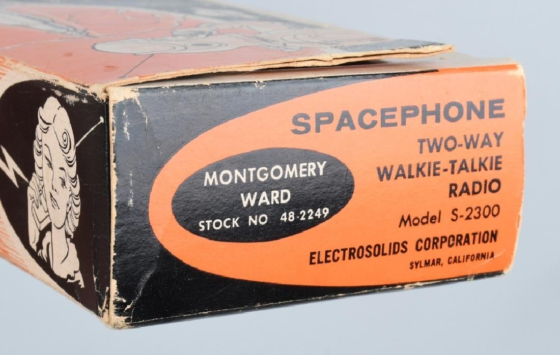 SPACE GUN TIN Battery Op & BOXED SPACE PHONE - 6