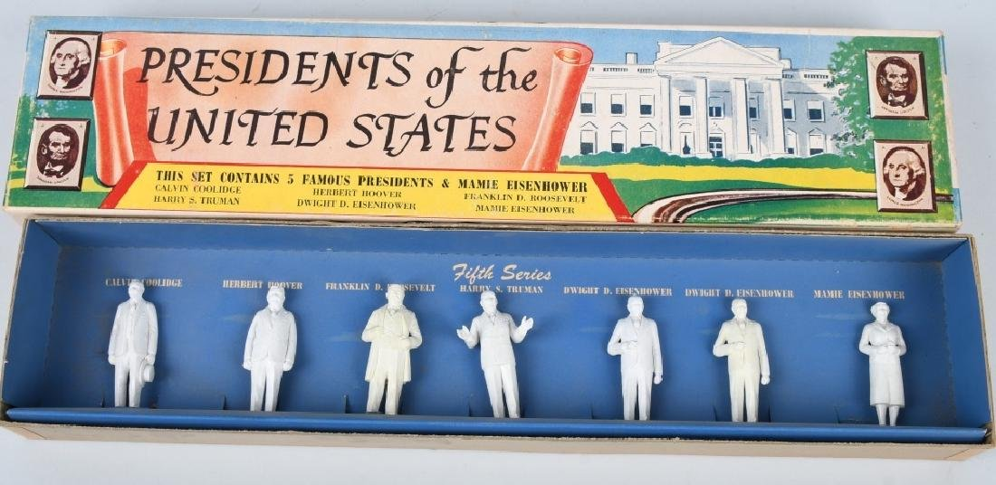 MARX PRESIDENT SETS, SERIES 1 - 5, BOXED - 6