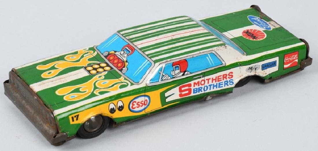 JAPAN TIN friction SMOTHERS BROTHERS ADV. CAR