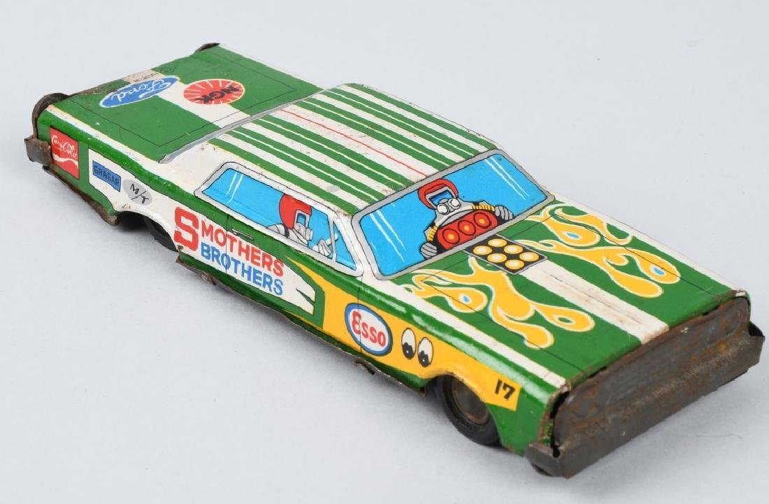 JAPAN TIN friction SMOTHERS BROTHERS ADV. CAR - 7