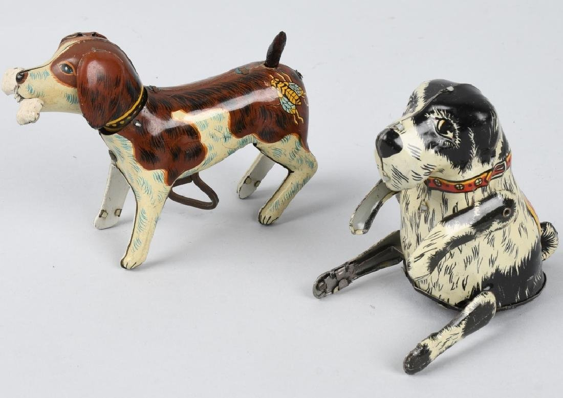 2-TIN windup DOGS, MARX FLIPPO & JAPAN