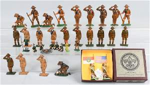 30 LEAD and CAST IRON BOY SCOUT FIGURES