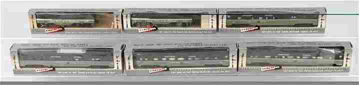 A.C. GILBERT HO PASSENGER TRAIN SET, BOXED