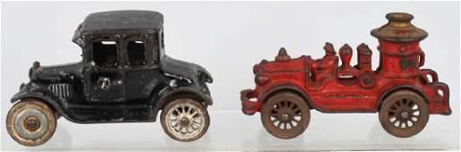 2- 1920's CAST IRON A.C. WILLIAMS AUTOS