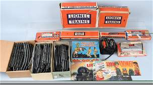 LIONEL LARGE LOT, CATALOGS, SWITCHES, & MORE