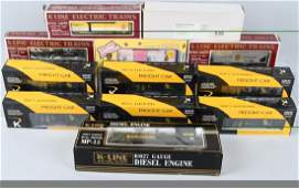 12KLINE 0 and 027 ENGINE  ROLLING STOCK BOXED