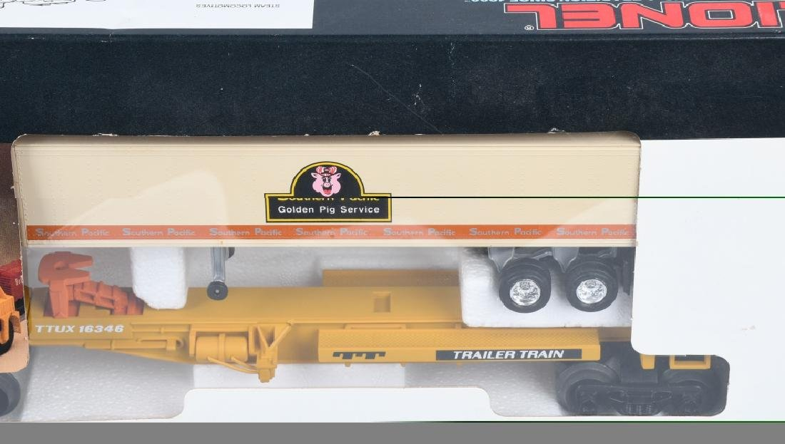 2-LIONEL T.T.U.X. FLAT CARS w/ TAILERS, BOXED - 3