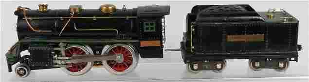 LIONEL PREWAR STANDARD GAUGE 384E ENGINE & TENDER