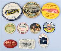 10- CELLULOID ADVERTISING POCKET MIRRORS