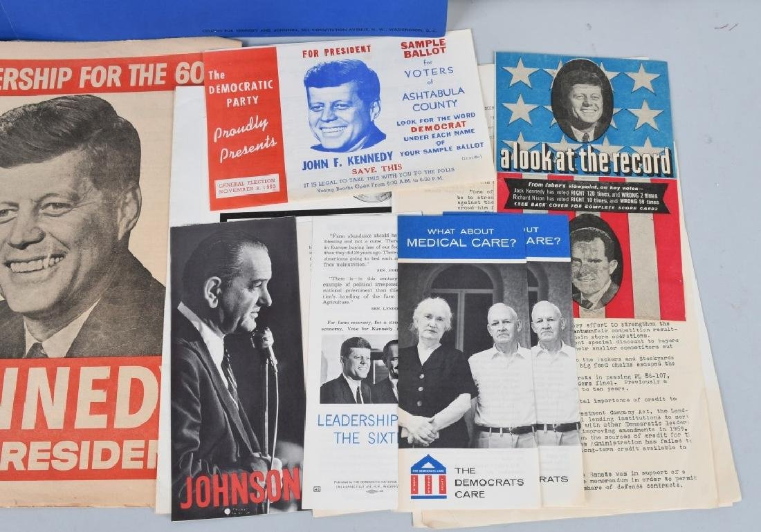 JOHN F KENNEDY POSTERS, PAMPHLETS, NOTES, & MORE - 3