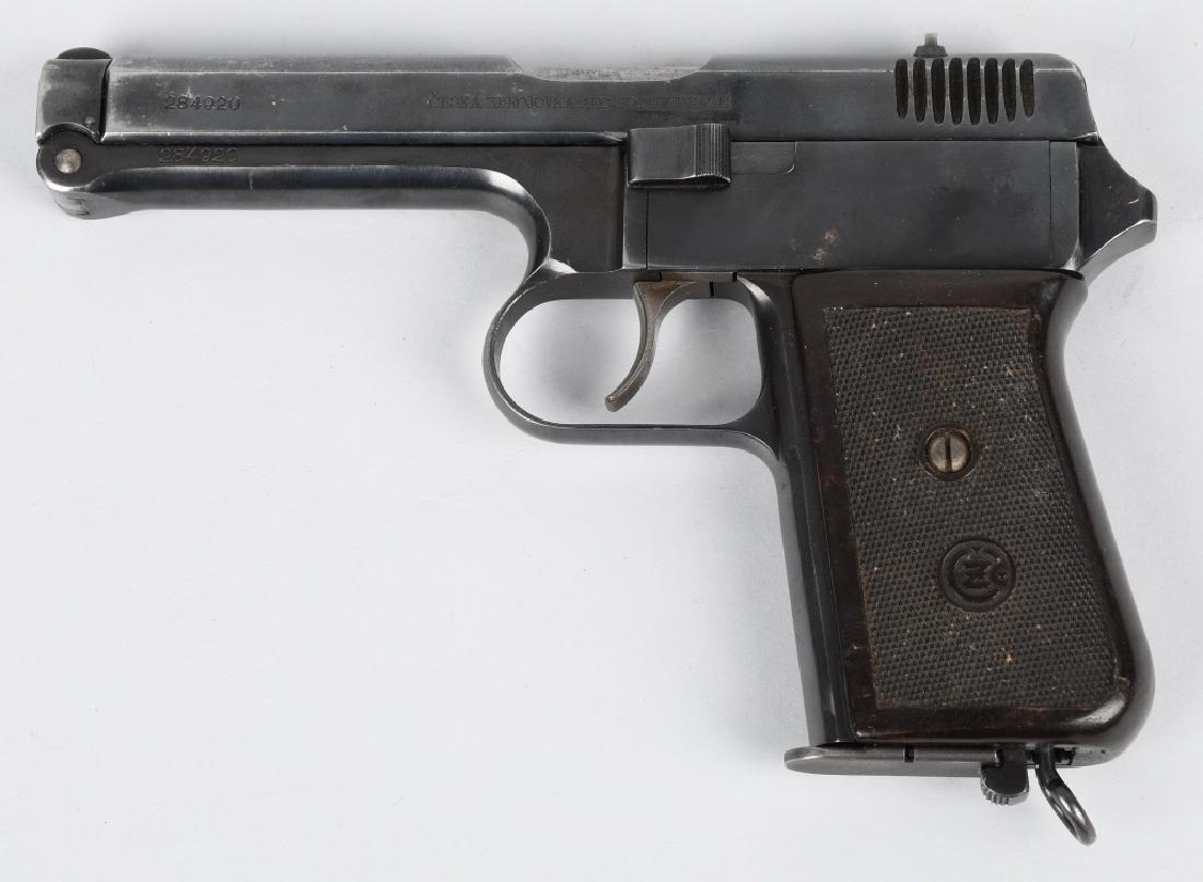 CZ 1938, E7-39 .380 SEMI AUTO PISTOL w/ HOLSTER - 3