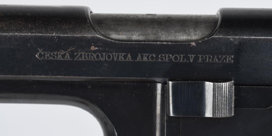 CZ 1938, E7-39 .380 SEMI AUTO PISTOL w/ HOLSTER - 4